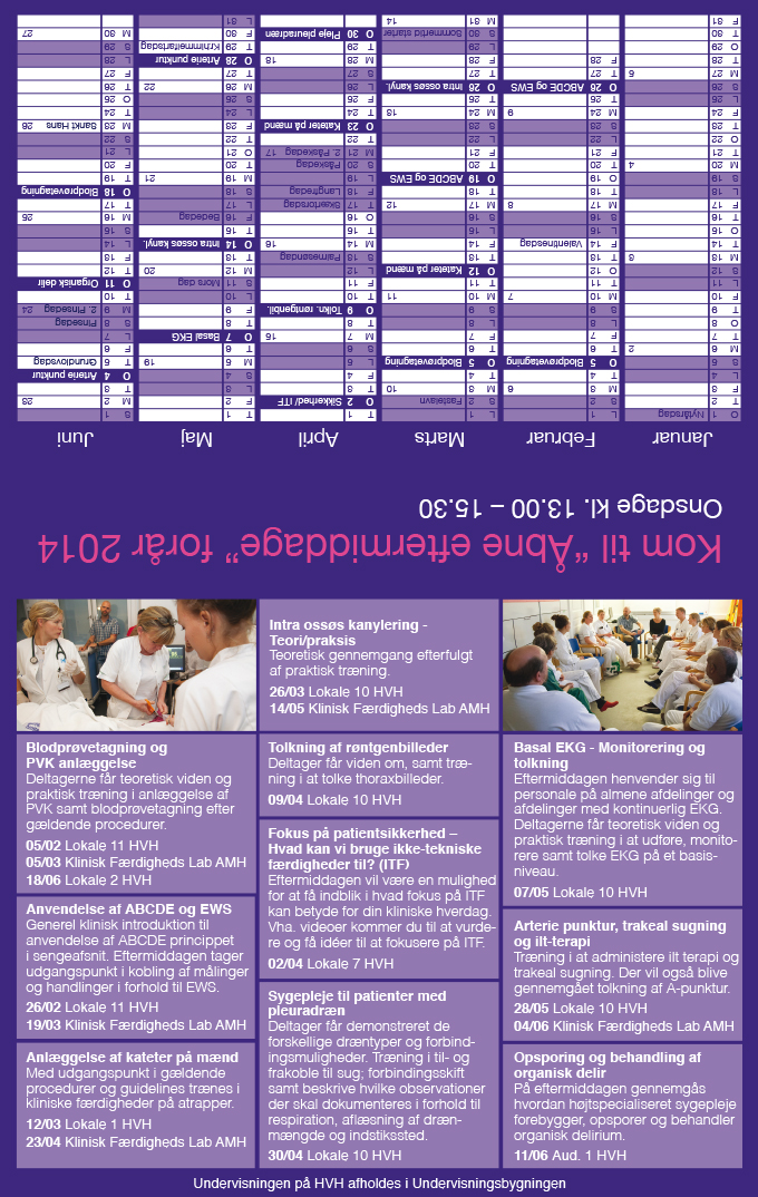 Hvidovre Hospital bordkalender