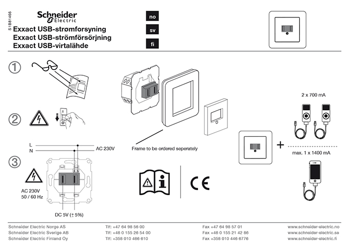 Schneider Electric brugsanvisning